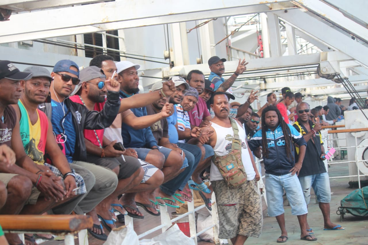 Freeport workers from Timika traveling to Jakarta. Photo: Freeport worker.