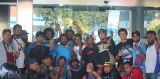 Freeport Workers Journey for 10 days from Timika to Jakarta. Photo: Freeport Worker
